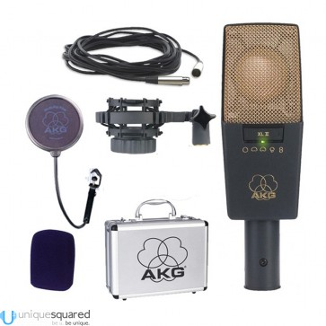 AKG C414 XL-II Large Diaphragm Condenser Microphone with XLR Cable