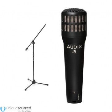 Audix I-5 Dynamic Instrument Cardioid Microphone Plus Stand