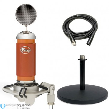 Blue Spark Microphone Bundle w/ Stand, Shockmount, Cable & Filter