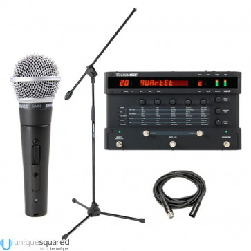 Digitech Vocalist Live5 Vocal Harmony w/ Shure SM58s, Boom Stand & XLR Cable