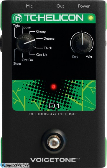 TC-Helicon VoiceTone D1 Doubling and Detune