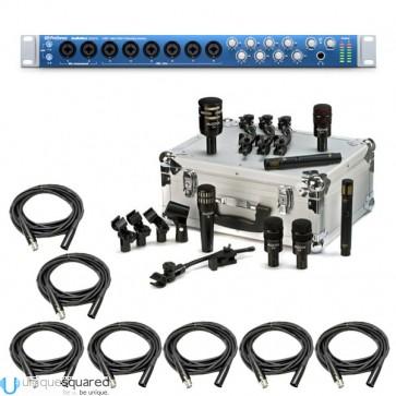 PreSonus AudioBox 1818VSL Recording Interface w/ Audix DP7 Drum Mic Kit & XLRs