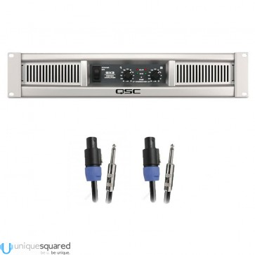 QSC GX3 Stereo Power Amplifier with Speakon Cables