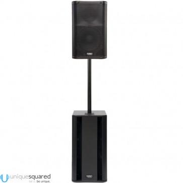 "QSC K12 K 12"" Powered 2 Way PA Speaker w/ KSUB Subwoofer & M20 Pole"
