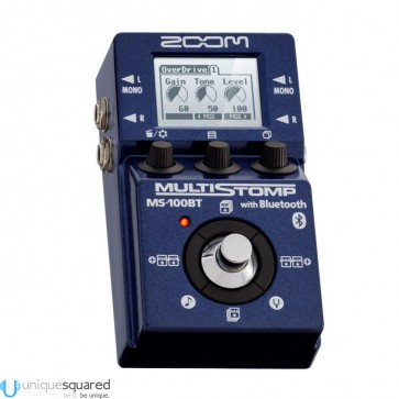 Zoom MS-100BT MultiStomp Guitar Effects Pedal with Bluetooth