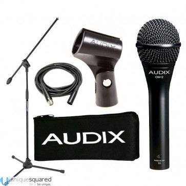 Audix OM-2 DynaMic Vocal & Instrument Microphone w/ Stand & XLR Cable
