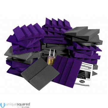 Auralex D36-DST Roominators Kit -  Charcoal Grey/Purple