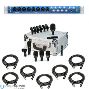 PreSonus AudioBox 1818VSL Recording Interface w/ Audix FP7 Drum Mic Kit & XLR Cables