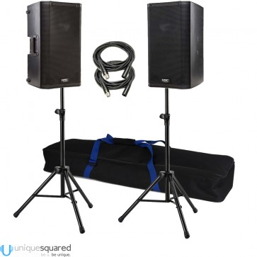 QSC K10 Pair with Stands and Cables