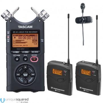 Sennheiser EW122P G3 EW122-P Wireless Lav Mic w/ Tascam DR-40