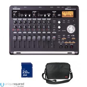 Tascam DP-03 DP03 Digital 8-Track CD Burning Recorder w/ Travel Bag