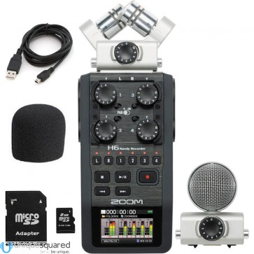 Zoom H6 Handy Recorder w/ Interchangeable Mics