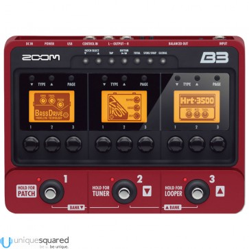 Zoom B3 - Bass Effects & Amp Simulator Pedal
