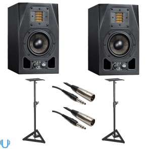 Adam A3X Studio Monitor Pair with Monitor Stands & Cables