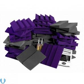 Auralex D36-DST Roominators Kit -  Charcoal Grey/Purple