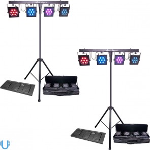 Chauvet 4Bar TRI Pair with Stands