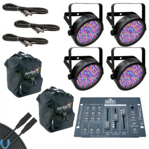 Chauvet SlimPAR 56 with Obey 3, Bags and Cables