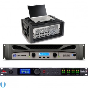 Crown XTi 6002 with DBX DriveRack PA2 and Rack Case