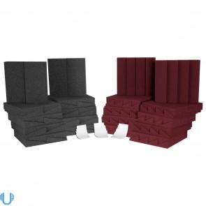 Auralex D36-DST Roominators Kit - Charcoal Grey/Burgundy