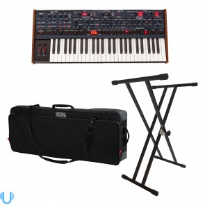 Dave Smith Prophet OB-6 Analog Synthesizer with Gator Cases G-PG-49 Pro-Go Ultimate Gig Bag and Stand