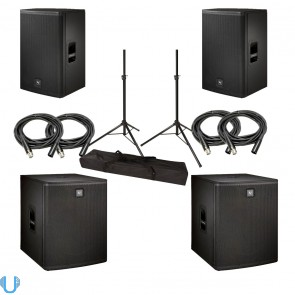Electro-Voice ELX-115P Pair with Subwoofers, Cables and Stands