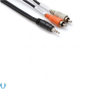 Hosa Stereo Breakout 3.5 mm TRS to Dual RCA 3' Cable