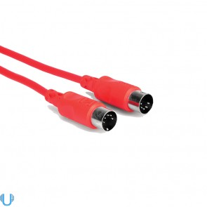 Hosa 5' MIDI Cable 5-pin DIN to Same (Red)