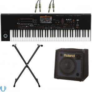 Korg Pa4X 76 Key with Roland KC-60, Stand and Cables