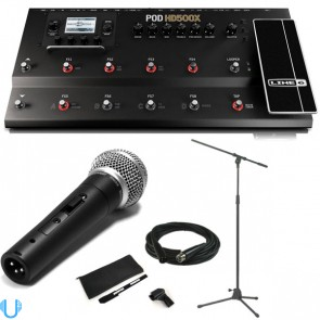 Line 6 POD HD500X with Shure SM58S, Stand and Cable