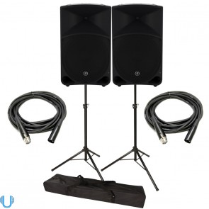 Mackie Thump15 with Stands and Cables