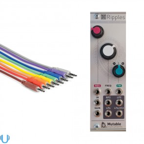 Mutable Instruments Ripples with Cables