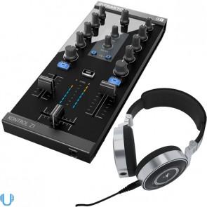 Native Instruments Traktor Kontrol Z1 DJ Mixing Controller with AKG K267 Tiesto Headphones