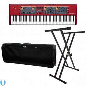 Nord Stage 2 EX HP76 Hammer Action Portable Keyboard With Bag & Stand