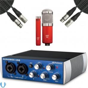 PreSonus AudioBox USB Studio Recording Interface with MXL 550 / 551R Mic Ensemble & XLR Cables