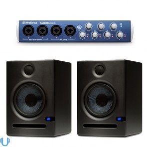PreSonus AudioBox 44VSL USB Computer Recording Interface with PreSonus Eris E5 Monitor Pair