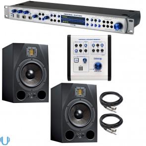 PreSonus Central Station PLUS With Adam Audio A8X Studio Monitor Pair & Cables
