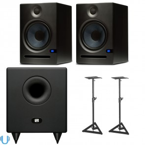 PreSonus Temblor T8 with Eris E8 Pair and Stands