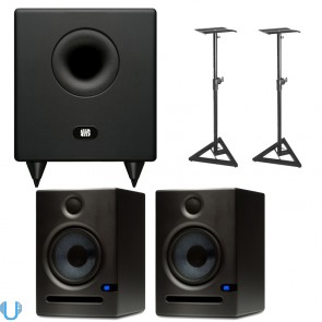 PreSonus Temblor T8 with Eris E5 Pair and Stands