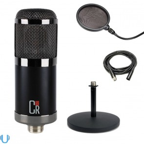 MXL CR89 Large Diaphragm Condenser Microphone with Desktop Stand, Pop Filter & XLR Cable