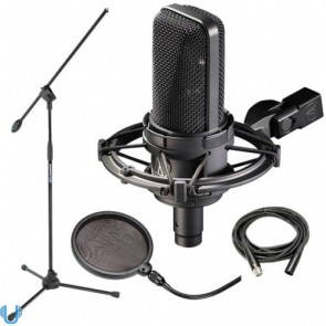 Audio-Technica AT4033/CL with Stand, Pop Filter and Cable