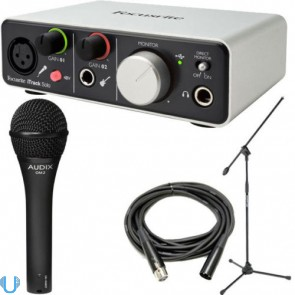 Focusrite iTrack Solo with Audix OM2, Stand and Cable