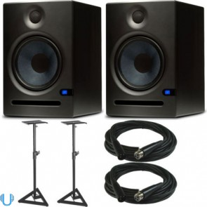"PreSonus Eris E8 8"" Studio Monitor Pair with Stands & Cables"