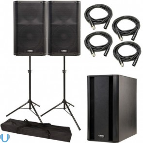 QSC K10 Pair with KSub, Stands and Cables