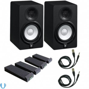 Yamaha HS5 Pair with Auralex MoPad Pair and Cables