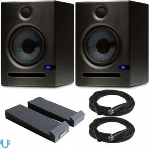 "PreSonus Eris E5 5"" Studio Monitor with Auralex Iso Pads & XLR Cables"
