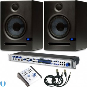 PreSonus Central Station Plus Studio Control with PreSonus E5 Monitor Pair & Cables