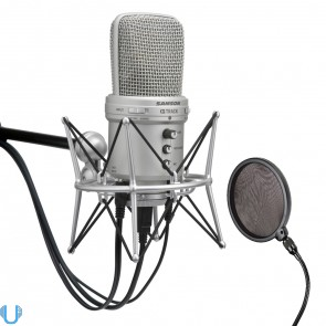 Samson G-Track USB Condenser Mic With Audio Interface & Shockmount & Pop Filter