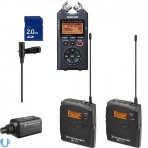 Sennheiser EW100ENG G3 Camera Wireless Mic Kit (G-Band) w/ Tascam DR-40