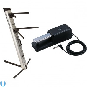 Ultimate Support AX-48 Pro Keyboard Stand with Roland DP-10 Digital Piano Damper Pedal