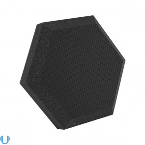 Ultimate Support UA-HX-12BK Hex Series 12 Inch Hexagonal Foam Wall Panel (Black Vinyl)